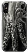 Three Indian Corn In Black And White IPhone Case