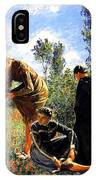 Three Ladies In A Field IPhone Case