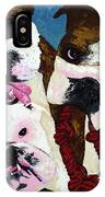 Three Playful Bullies IPhone Case