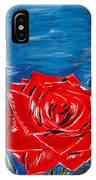 Three Red Roses Four Leaves IPhone Case