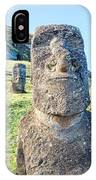 Three Standing Moai Statues IPhone Case