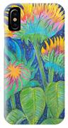 Three Sunflowers In The Mid Summer Night  IPhone Case