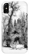Three Trees Bw IPhone Case