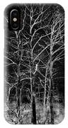 Three Trees In Black And White IPhone Case