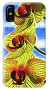 Three Yellow Orchid Blooms IPhone Case