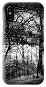 Through The Lens- Black And White IPhone Case