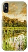 Through The Reeds IPhone Case by Nick Bywater