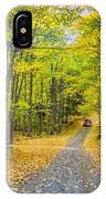 Through Yellow Woods 2 IPhone Case