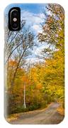 Through Yellow Woods 3 IPhone Case