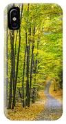 Through Yellow Woods IPhone Case
