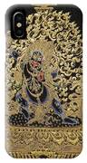 Tibetan Thangka - Vajrapani - Protector And Guide Of Gautama Buddha IPhone Case