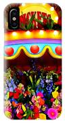 Ticket Booth Of Flowers IPhone Case