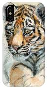 Tiger Cub Portrait 865 IPhone Case