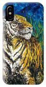 Tiger Night Hunt IPhone Case
