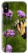 Tiger Swallowtail Among The Verbena   IPhone Case