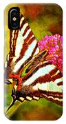 Zebra Swallowtail Butterfly - Digital Paint 3 IPhone Case