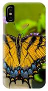 Tiger Swallowtail Butterfly By Fence IPhone Case