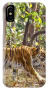 Tigress Walking Through Sal Forest In Pench Tiger Reserve  India IPhone Case