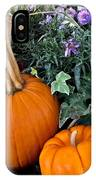 Time For Pumpkins In The Flower Beds IPhone Case