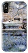 Time Machine Or The Retrofitted Delorean Dmc-12 IPhone Case