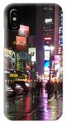 Times Square In The Rain 1 IPhone Case
