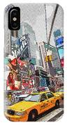 Times Square Pop Art IPhone Case