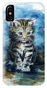Timid Kitten IPhone Case