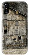 Tin Cup Chalice Rustic Barn IPhone Case