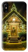 Tiny Chapel With Lighting At Night IPhone Case