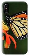 Tithonia Loving Monarch IPhone Case