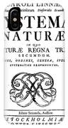 Title Page, Systema Naturae, Carl IPhone Case