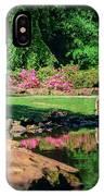 Taking A Break At The Azalea Pond IPhone Case
