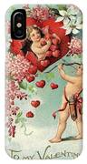 To My Valentine Vintage Romantic Greetings IPhone Case