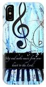 To The Lord - Blue IPhone Case