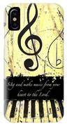 To The Lord - Yellow IPhone Case