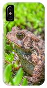 Toad In The Grass IPhone Case