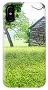 Tobacco Barn In Fog IPhone Case