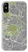 Tokyo City Map Engraving IPhone Case