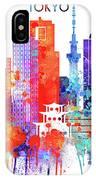Tokyo Watercolor IPhone Case