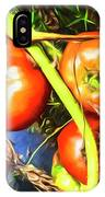 Tomatoes Hanging Like Grapes From Vines Go1 3711a3 IPhone Case