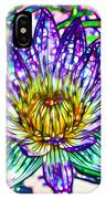 Top View Of A Beautiful Purple Lotus IPhone Case