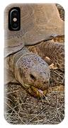 Tortoise Eating Lunch In Living Desert Zoo And Gardens In Palm Desert-california  IPhone Case