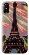Tour Eiffel Et Ovni IPhone Case