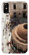 Tourists At Dubrovnik's Onofrio's Fountain IPhone Case