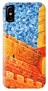 Tower Of David At Night Jerusalem Original Palette Knife Painting IPhone Case