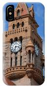 Tower Of The Decatur Courthouse  IPhone Case
