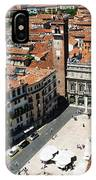 Tower View Of Piazza Delle Erbe In Verona Italy IPhone Case