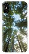 Towering Fir Trees In Oregon Forest State Park IPhone Case