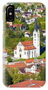 Town Of Krapina Church Vertical View IPhone Case