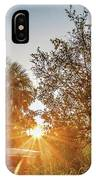 Tractor At Sunset IPhone Case